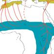 Zasięg występowania bociana białego jest imponujący. Światowy areał przedstawiono na innej pamie, ale więkoszść bocianów białcyh zamieszkauje na obszarze przedstawionym poniżej. Olbrzymie odległości powodują, że bociany poświęcają znaczną cześć życia  na wędrówkę pomiędzy terenami lęgowymi i zimowiskami.